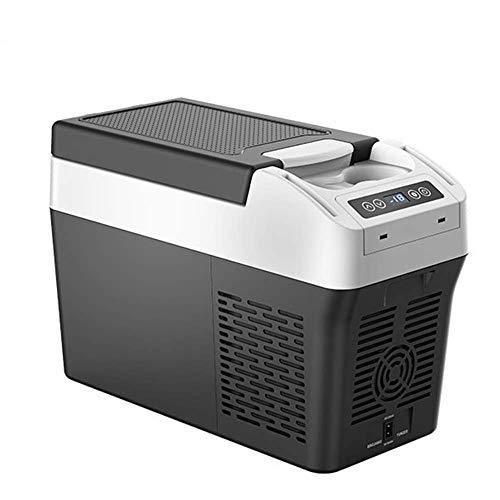 HRRF Frigorífico congelador con compresor eléctrico, -20 ° C, Mini refrigerador portátil refrigerador refrigerador, Pantalla LED, Ideal para Camping Travel Picnic Beach Auto Outdoor, 12L (AC/DC)
