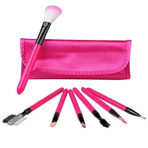 tinxi® 7 Stk Make-up Pennello Professionale Premium Pennello ombretto dell'ombra Insieme di spazzola cosmetico (Rosa)