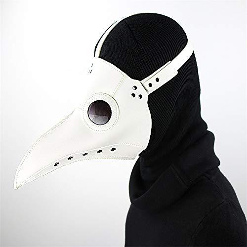 Voghtic Mscara de mdicos de la plaga, mscara gtica de pico de pjaro de nariz larga, disfraz de gas steampunk para Halloween Cosplay