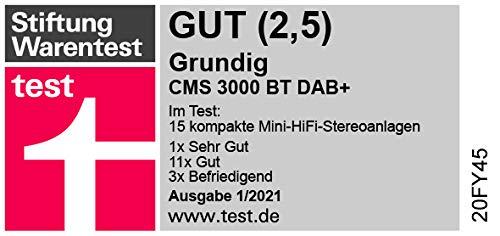 Grundig CMS 3000 BT DAB HiFi System Schwarz