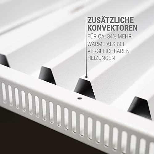 VASNER Konvi Infrarotheizung mit Thermostat 600 Watt Hybridheizung inkl. Wandmontage 2J Garantie Konvektionsheizung Elektroheizung Hybrid Paneel Heizplatte Carbon-Heizfolie Made in Germany