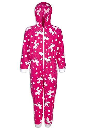 CAMILLE Strampler-Pyjama-Sets für Kinder mit Mehreren Aufdrucken 4-5 Years Pink Unicorn