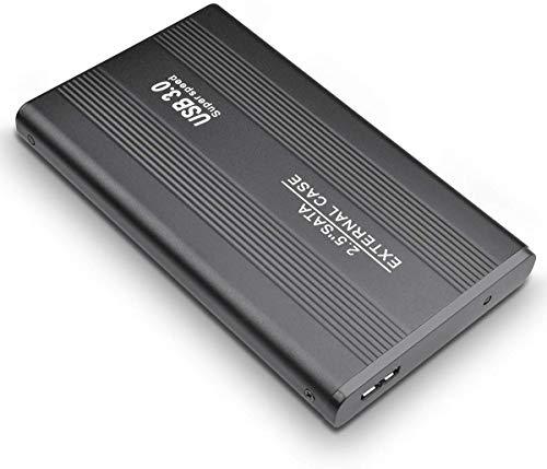 Disco rigido esterno da 2 TB con disco rigido esterno ultra sottile USB 3.0, compatibile con PC, Mac, ufficio, computer portatile (2TB, Black)