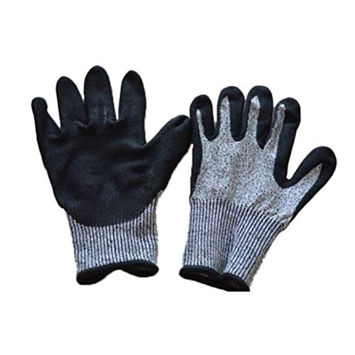 Jakiload Slip-proof handschoen, isolerende handschoenen, Level 5 lekke band Anti-snijhandschoen, 4 paar