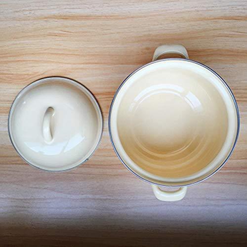 Pot pentole e padelle stoviglie in porcellana smaltata pot fornello ad induzione piatto caldo di attrezzature da cucina pan,giallo,1.3L