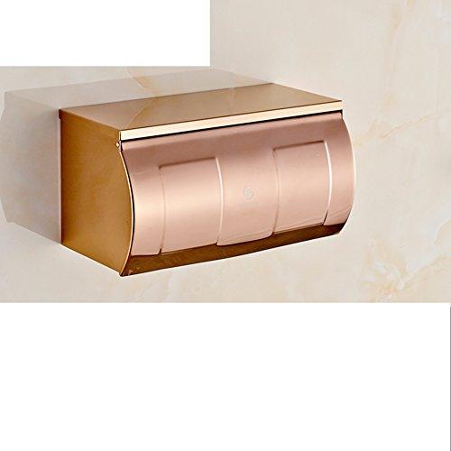 Europese uitziende roségoud bad wc tray / roestvrij stalen toiletrol tissue box en papierisolatiehouder / [wc water hand tablet] / wc-papierhouder H