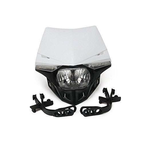 S2 12 V 35 W Universel Moto Phare Tête Lampe LED Lumières pour Dirt Pit Bike ATV Blanc