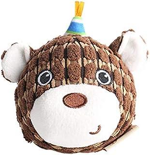 Christmas New Year Dog Gift Toy Dog, Christmas Ball Animal Chewing Dog Toy, Interactive French Bulldog Barking Corduroy Do...