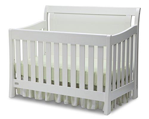 Simmons Kids Slumbertime Madisson Convertible Baby Crib N More, White Ambiance