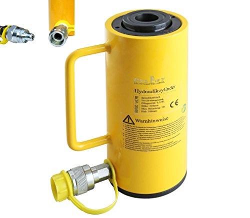 Pro-Lift-Montagetechnik 20t Hohlzylinder, Hohlkolbenzylinder, Hub 100mm, 00057