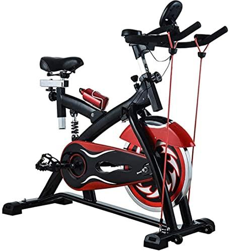 YXYY Bicicleta estática Fitness Cardio Workout Home Ciclismo Máquina Monitor Muestra Velocidad Distancia Tiempo Calorías y Pulso Ideal Cardio Trainer - con cordón (actualización)