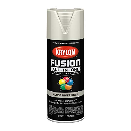 Krylon K02721007 Fusion All-In-One Spray Paint for Indoor/Outdoor Use, Gloss River Rock Gray