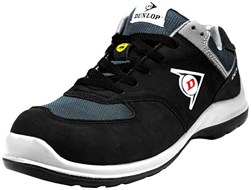 Dunlop Flying Arrow | Zapatos de Seguridad | Calzado de Trabajo S3 | con Puntera | Ligero y Transpirable | Nero | Talla 43