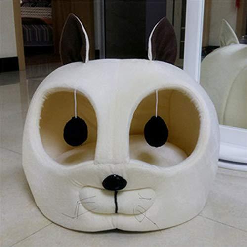 AMURAO Kopf geformt Haustier Hund Bett weich warm Winter Welpen Haus Katze Zwinger Sofa Mat Pet Nest Schlafsack Kissen für Teddy