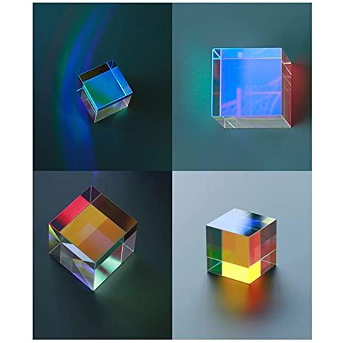 CMY Misch-Farbwürfel, 10 mm, Prisma, optisches Glas, Prisma, RGB, Dispersion, Prisma, Physik, Lichtspektrum, Bildungsmodell, Outdoor, Fotografie, Kamera, Wissenschaft,...