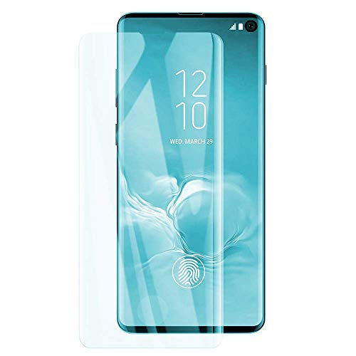 Galaxy S10 Screen Protector Tempered Glass for Samsung Galaxy S10 No Bubbles Case Friendly 2-Pack Clear