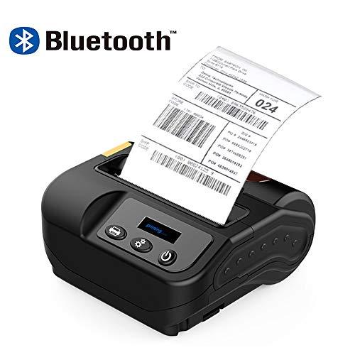 0.96 « Mini-Imprimante Portable 80MM Étiquette Imprimante Thermique Autocollant D'impression De Codes À Barres Appareil Prend En Charge La Connexion USB Bluetooth Compatible Android IOS De Windows