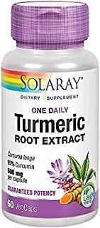 Solaray Once Daily Turmeric Root Extract, 60 Vegetable Capsules