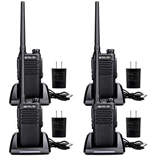 Retevis RT47V MURS Radio Handheld,Adults Walkie Talkie IP67 Waterproof Rechargeable Channel Lock Rugged Two Way Radios(4 Pack)