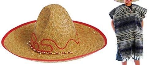 Child Mexican Fiesta - Sombrero and Poncho set