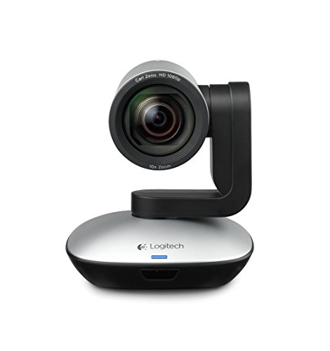 Logitech PTZ PRO Videokonferenz-Webcam, HD 1080p, 90° Blickfeld, 10-fach Zoom, Autofokus, USB-Anschluss, SVC-Technologie, Schwenk-/Neigefunktion, Für kleinere und größere Meetingräume - Schwarz