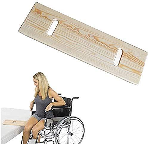 Madera Bariátrica Junta De Transferencia for Sillas De Ruedas, Tabla De Deslizamiento con Asas, Deslice La Tarjeta for El Sobrepeso Usuarios Discapacitados Ancianos Cama De Cuidados-75 * 20 * 2Cm ⭐