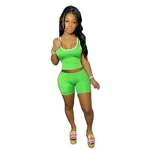 2021 - Conjunto de entrenamiento para mujer (2 piezas, chándal para fitness, yoga, camiseta y leggings, ropa deportiva, tallas S-XXL)