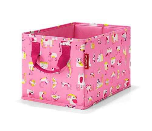 Reisenthel storagebox Kids ABC Friends Pink Trousse de Toilette, 34 cm, 18 liters, Rose (ABC Pink)