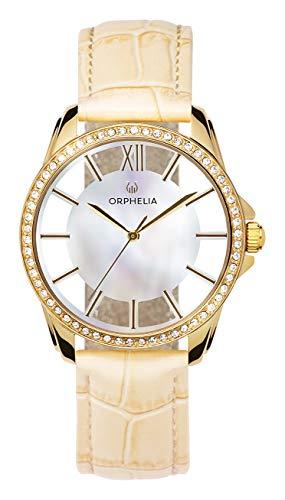 ORPHELIA Damen Analog Quarz Uhr mit Leder Armband OR11807