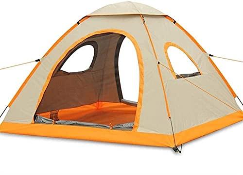 GDYJP Tienda al Aire Libre 3-4 Personas Camping Impermeable Tienda automática Luz de Carpa en Masa Pequeño Volumen Ventilación única Tienda de ventilación (Color : Natural)