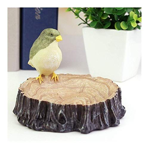GANG Ash Tray Round Ash Tray Birds Stump Resin Candlestick Shape Cigar Ashtray for Indoor and Outdoor Decorative 11.5Cm*8.5Cm Exquisite/Stump Bird