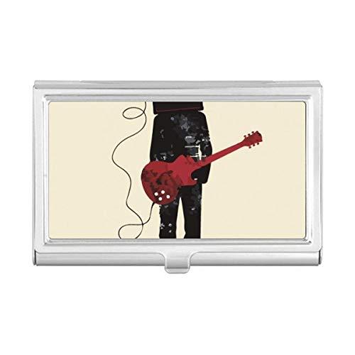 Guitar Music Instruments Carteira para cartões de visita Crazy Man