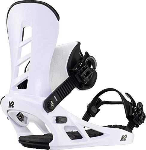 K2 Sonic 2021 - Fijaciones de snowboard (4 x 4 cm), color blanco