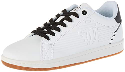 Trussardi Jeans Sneaker ECOLEATHER Logo High F, Scarpe con Lacci Uomo, W601, 40 EU