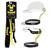 Banda de neopreno de RAPPIT y tira de gafas para sujetar el sombrero y las gafas al hacer deporte, en el agua, frente al viento y al aire libre