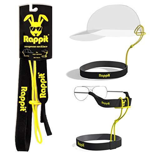 RAPPIT Halsband und Brillenband Befestigung Mütze und Brille für Sport, Wasser, Wind und Outdoor, neopren