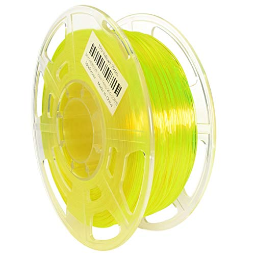 Kuinayouyi 3D Printer Flexible TPU Filament 1.75+/-0.02mm 0.8KG High Purity TPU Consumables,Yellow