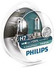 Philips 12972XV+S2 Lámpara Halógena para Coche H7, 55 W, hasta 3500K, 2 Unidades