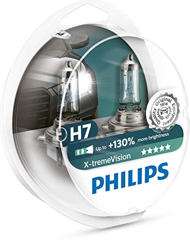 Philips automotive lighting 12972XV+S2 XtremeVision 130 Prozent Scheinwerferlampe H7 Autolampen Halogen Glühlampe, 2 Stück, Twin box