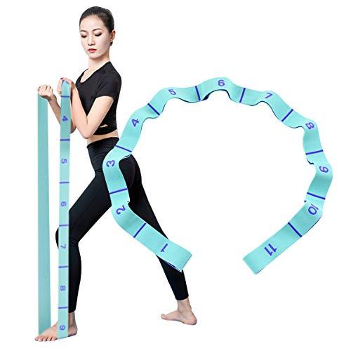 Locisne 11 Cinturino Elastico per Esercizi numerico, Passanti numerati per Cinturino Elastico per Yoga, Lavabile, Facile da trasportare Cinturino Elastico per Yoga, Danza, Assistenza, Riabilitazione