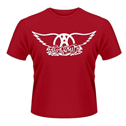 Plastic Head Aerosmith Logo Camiseta, Rosso, XXL para Hombre