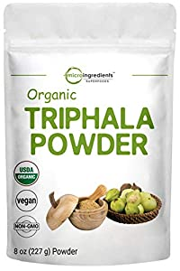 USDA Organic Triphala Powder, 8 Ounce, Organic Formula of Amla, Haritaki & Bibhitaki, Pure Triphala Supplement, Strongly Supports Diet Control and Fat Burn, No GMOs and Vegan Friendly from Micro Ingredients
