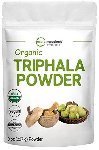 USDA Organic Triphala Powder, 8 Ounce, Organic Formula of Amla, Haritaki & Bibhitaki, Pure Triphala Supplement, Strongly Supports Diet Control and Fat Burn, No GMOs and Vegan Friendly
