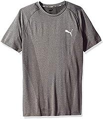 Puma Camiseta Básica de Manga Corta para Hombre