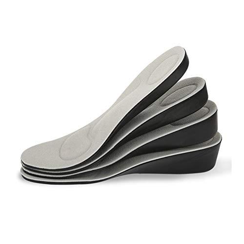 Plantillas Para Zapatos Desodorante Suela 1 par aumento de la altura del zapato plantilla respirable de alta completo Plantillas Insertos cojines del amortiguador Lift Kits Ascensor plantillas Hombres