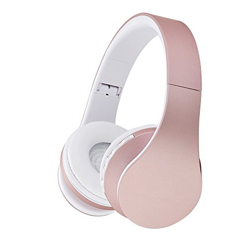 Bluetooth drahtlose Kopfhörer, EONSMN Bluetooth faltbare Kopfhörer mit Micro Support SD/TF Karte für Smart Phones Tablet Notebook (Rose Gold)