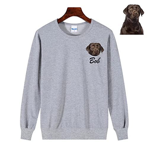 Sudadera con retrato de mascota personalizada Sudadera con capucha personalizada con cara de mascota Pullover Regalos personalizados para mamá y perro Camisa con foto personalizada para mascotas