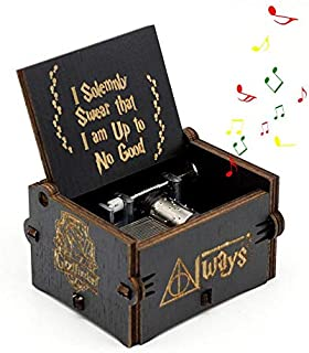 SKEIDO Harry Potter Music Box, lesgos Hand Crank Musical Box Carved Wooden,Play the Sweet of Song