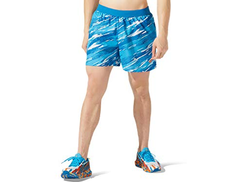 "ASICS Men's Color Injection 5"" Short Running Apparel, L, Reborn Blue"