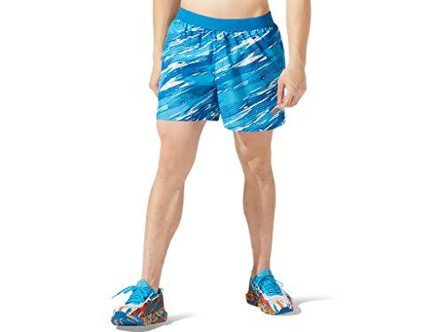 ASICS Men's Color Injection 5' Short Running Apparel, XL, Reborn Blue